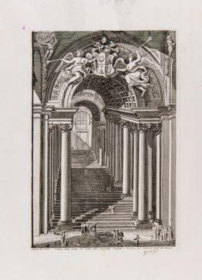 Veduta della scala che mette alla Cappella Sistina e Paolina nel Vaticano