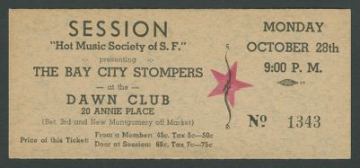 Hot Music Society of San Francisco, Calif. presents The Bay City Stompers, October 28, 1940