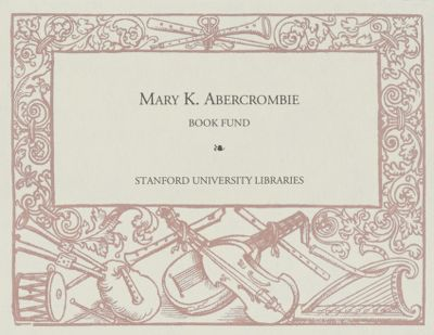 Mary K. Abercrombie Book Fund