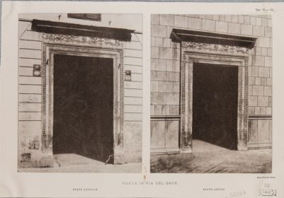 Via del Gesù, portale quattrocentesco