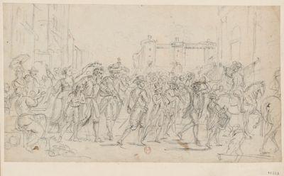 [Libération des prisonniers de la Bastille] [dessin]