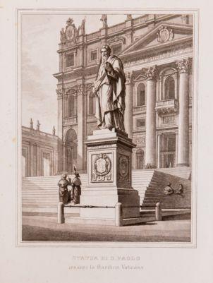 Statua di S. Paolo innanzi la Basilica Vaticana
