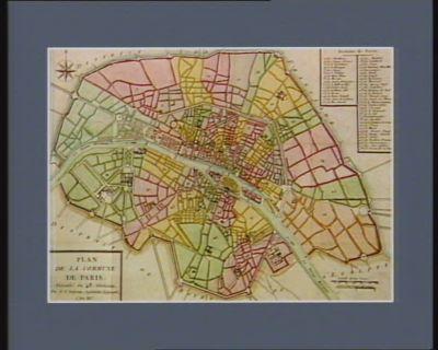 Plan de la commune de Paris, divisée en 48 sections par le c. Poirson ingénieur géographe l'an III.e [estampe]