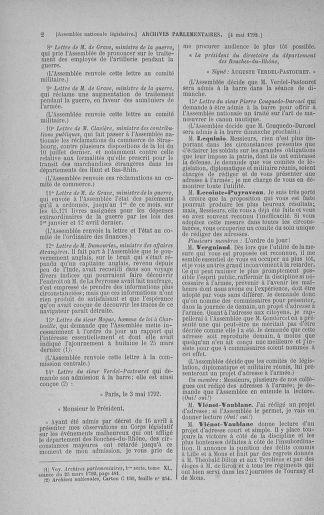 Tome 43 : Du 4 au 22 mai 1792 - page 2
