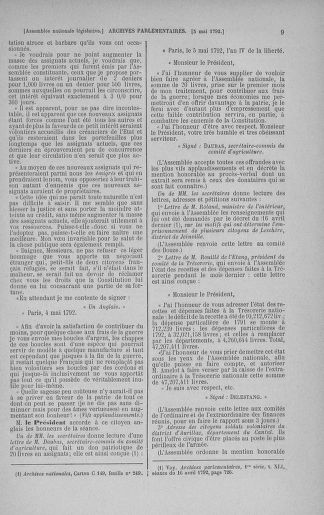 Tome 43 : Du 4 au 22 mai 1792 - page 9