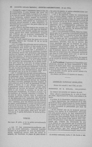 Tome 43 : Du 4 au 22 mai 1792 - page 30