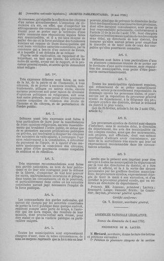 Tome 43 : Du 4 au 22 mai 1792 - page 46