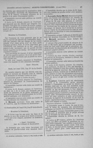 Tome 43 : Du 4 au 22 mai 1792 - page 47