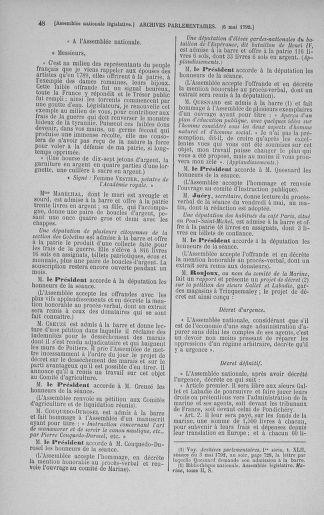 Tome 43 : Du 4 au 22 mai 1792 - page 48