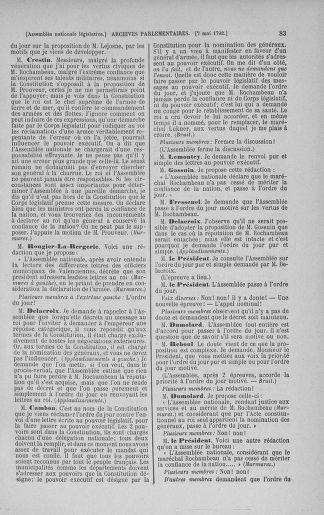 Tome 43 : Du 4 au 22 mai 1792 - page 83