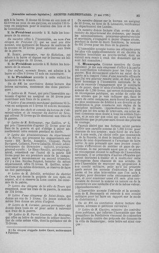 Tome 43 : Du 4 au 22 mai 1792 - page 85