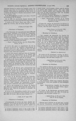 Tome 43 : Du 4 au 22 mai 1792 - page 159