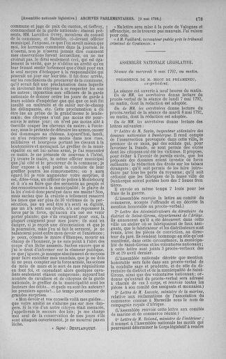 Tome 43 : Du 4 au 22 mai 1792 - page 173