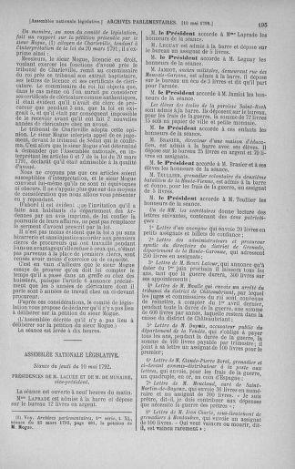 Tome 43 : Du 4 au 22 mai 1792 - page 195