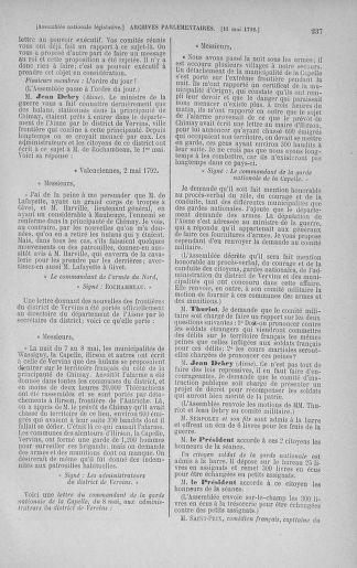 Tome 43 : Du 4 au 22 mai 1792 - page 237
