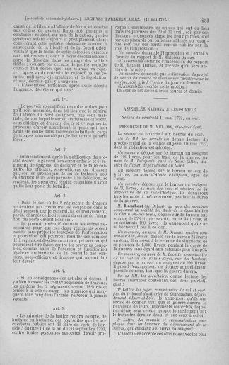Tome 43 : Du 4 au 22 mai 1792 - page 253