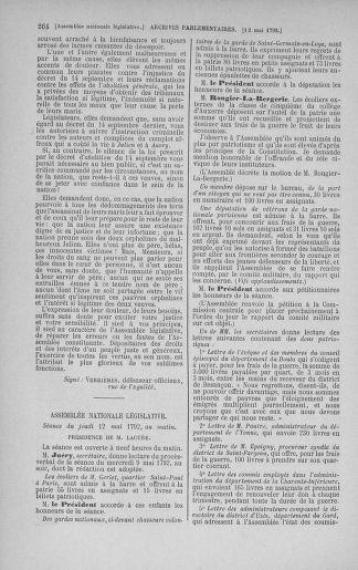 Tome 43 : Du 4 au 22 mai 1792 - page 264