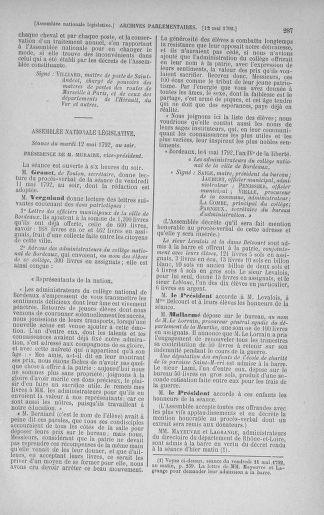 Tome 43 : Du 4 au 22 mai 1792 - page 287
