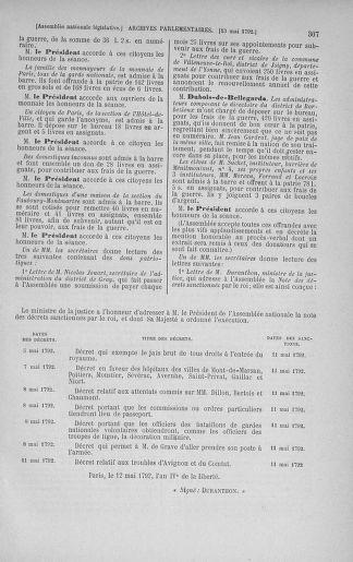 Tome 43 : Du 4 au 22 mai 1792 - page 307