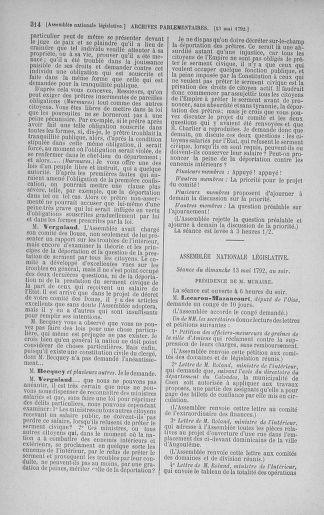 Tome 43 : Du 4 au 22 mai 1792 - page 314