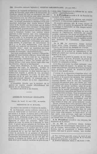 Tome 43 : Du 4 au 22 mai 1792 - page 320