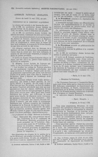 Tome 43 : Du 4 au 22 mai 1792 - page 354