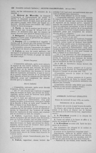 Tome 43 : Du 4 au 22 mai 1792 - page 428