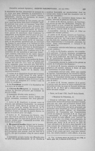 Tome 43 : Du 4 au 22 mai 1792 - page 429