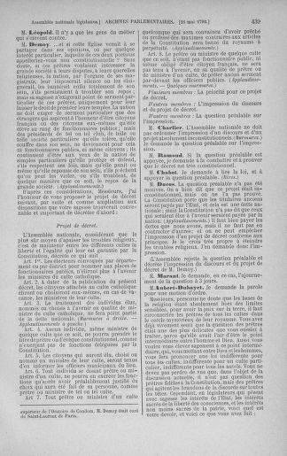 Tome 43 : Du 4 au 22 mai 1792 - page 439