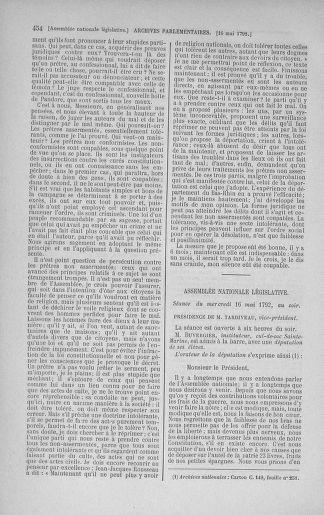 Tome 43 : Du 4 au 22 mai 1792 - page 454