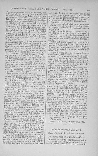 Tome 43 : Du 4 au 22 mai 1792 - page 505
