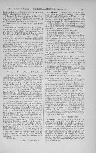 Tome 43 : Du 4 au 22 mai 1792 - page 523