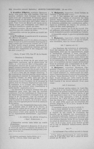 Tome 43 : Du 4 au 22 mai 1792 - page 566