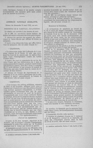 Tome 43 : Du 4 au 22 mai 1792 - page 573