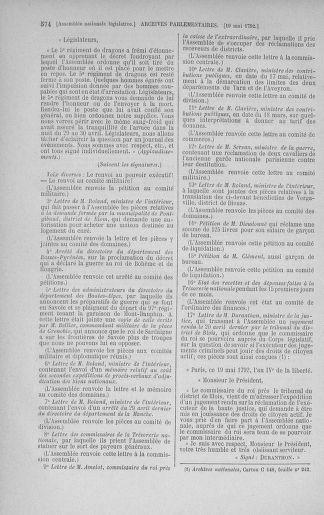 Tome 43 : Du 4 au 22 mai 1792 - page 574