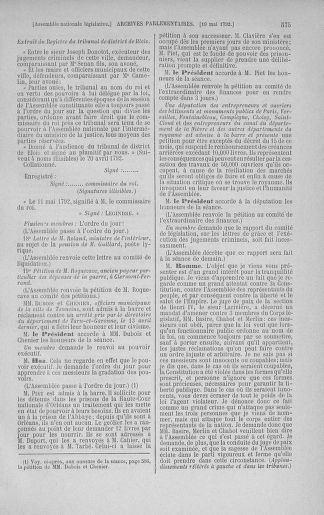 Tome 43 : Du 4 au 22 mai 1792 - page 575