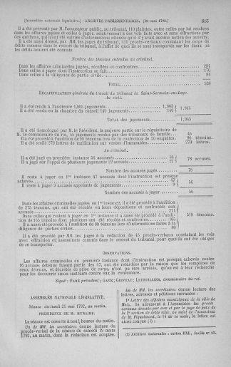 Tome 43 : Du 4 au 22 mai 1792 - page 615