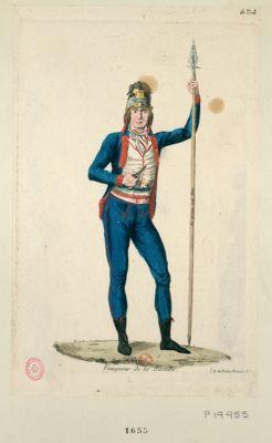 Vainqueur de la Bastille paix aux Chaumières guerre aux chateaux, <em>vaincre</em> <em>ou</em> <em>mourir</em> : les tyrans sont murs [sic] 14 juillet 1789 : [estampe]