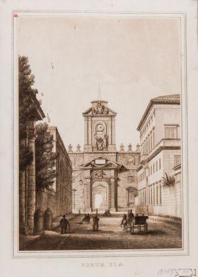 Porta Pia, veduta generale dall'interno