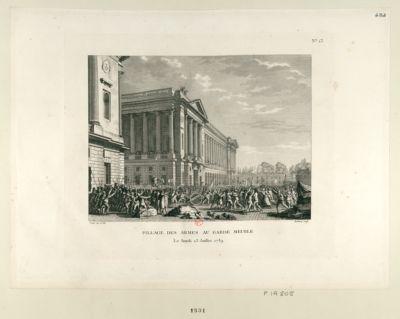 Pillage des armes au garde-meuble le lundi 13 juillet 1789 : [estampe]