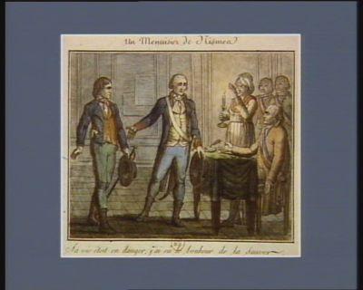 Un menuisier de Nismes sa vie étoit en danger ; j'ai eû le bonheur de la sauver. 13 juin <em>1790</em> v.s. : [estampe]