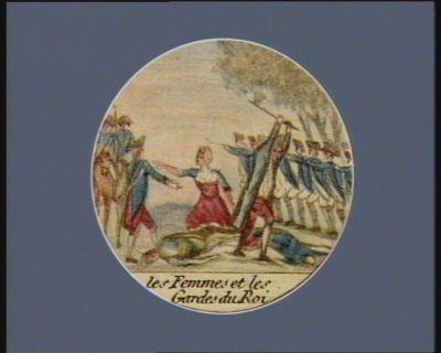 Les  Femmes et les Gardes du Roi [estampe]