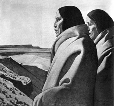 Men of the Red Earth, painted by Maynard Dixon