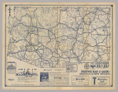 Map Of Arizona Utah And Colorado.Texaco Road Map Cartographic Material Arizona Colorado New