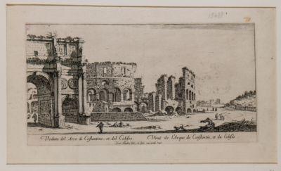 Colosseo, esterno verso sud con parte Arco di Costantino