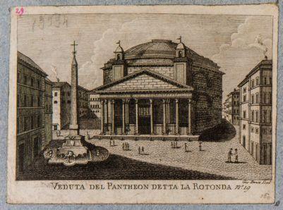 Veduta del Pantheon detta la Rotonda
