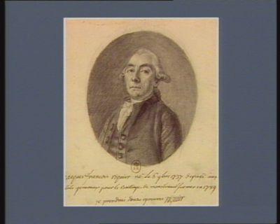 Jacques François Riquier né le 6 9.bre 1737 député aux Etats generaux pour le bailliage de Monstreuil sur Mer en <em>1789</em> : je prendrai douze epreuves Riquier : [dessin]