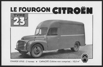 Citroën trucks (Includes Type 55, Type 23)