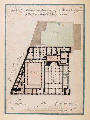 Palazzo della Cancelleria. Sotterranei e cimitero, pianta