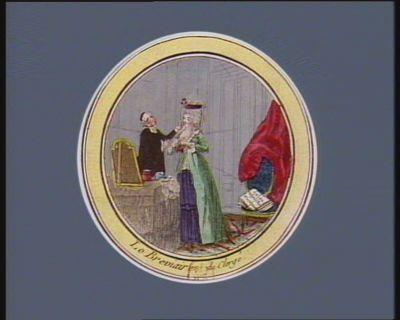 Le  Breviaire du clergé la religieuse en chemise : [estampe]